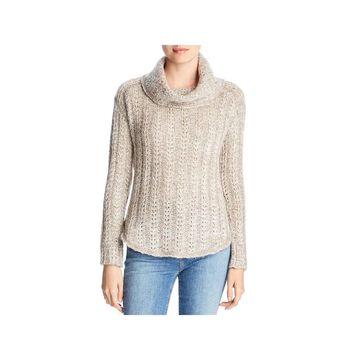Three Dots Womens Sweater Marled Long Sleeve