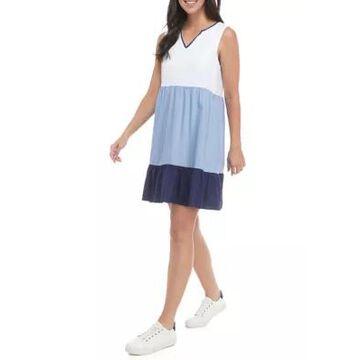 Ronni Nicole Women's Sleeveless Color Block Babydoll Dress -