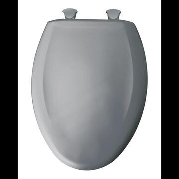 Bemis 1200SLOWT Elongated Closed-Front Toilet Seat and Lid with Whisper-Close Easy-Clean & Change and STA-TITE Seat Fastening System Country Grey