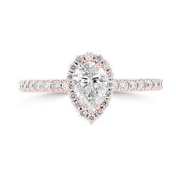 La Vita Vital 14K Rose Gold Diamond 1.00cts TDW Engagement Ring - White H-I