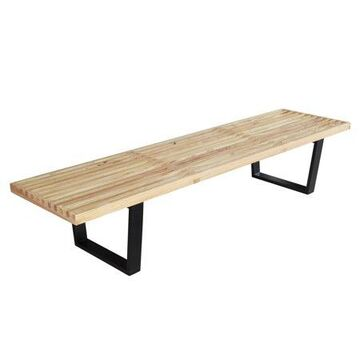 Fine Mod Imports Wood Bench 72