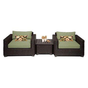 TK Classics Venice 3-Piece Outdoor Wicker Sofa Set, Cilantro
