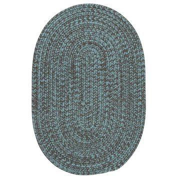 Colonial Mills Laffite Tweed Indoor Outdoor Rug, Blue, 2X4 Ft