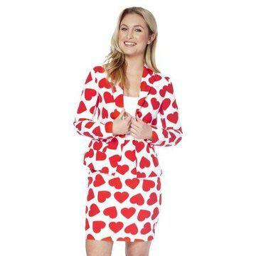 OppoSuits Women's Queen Of Hearts Valentine Suit