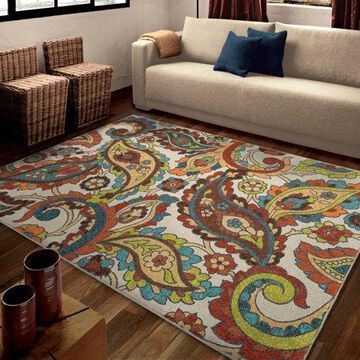 Orian Rugs Bright Color Paisley Wafted Colors Multi Area Rug