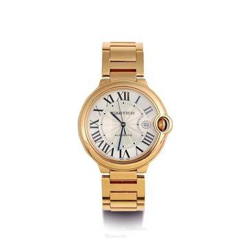 Cartier Men's W69006Z2 'Ballon Bleu' Rose Gold-Tone Stainless Steel Watch