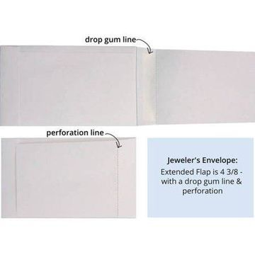 Jewelers/Coupon Envelope (3 5/8 x 6) - 28lb. White (500 Qty.)