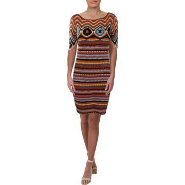 See by Chloe Womens Casual Dress Crochet Striped - S