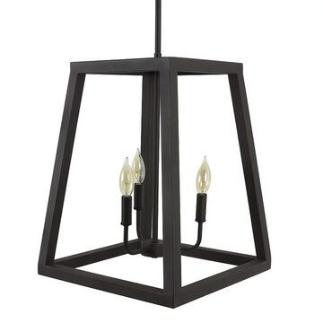 Decor Therapy Reed Chandelier, Black