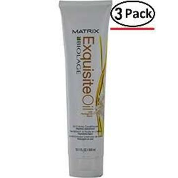BIOLAGE by Matrix EXQUISITE OIL OIL CREME CONDITIONER 10.1 OZ for UNISEX ---(Package Of 3)