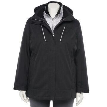 Plus Size ZeroXposur Trish 4-Way Stretch 3-in-1 Systems Jacket