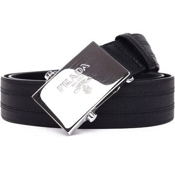 Prada Saffiano Black Leather Belt 2CM009 Size: 105/42