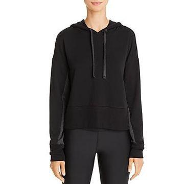 Beyond Yoga Color-Block Sleeve Hooded Sweatshirt