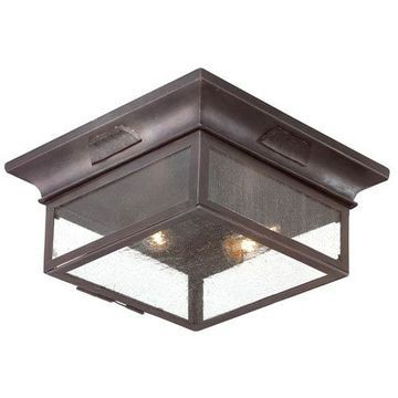 Newton Two-Light Outdoor Flush Mount