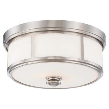 Harbour Point Brushed Nickel 2 Light Flush Mountby Minka Lavery