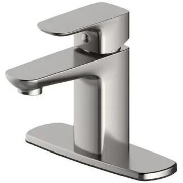 PROFLO PFWSCM1M115 1.2 GPM Single Hole Bathroom Faucet with Pop-Up (Brushed Nickel)