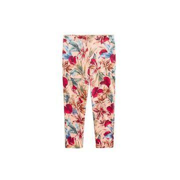 Violeta BY MANGO - Tropical print trousers pink - L - Plus sizes