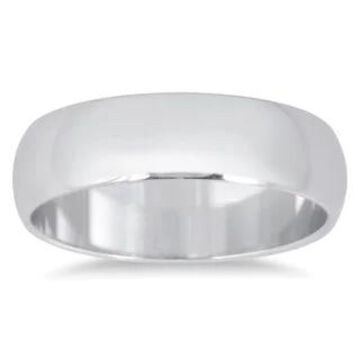 Marquee Jewels 14k White Gold 5-millimeter Domed Comfort Fit Wedding Band
