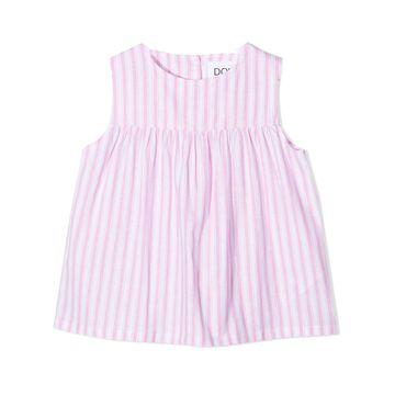 Douuod Pink Cotton-linen Blend Blouse
