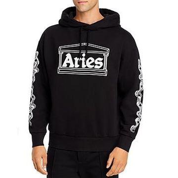 Aries Graphic Logo Hooded Sweatshirt