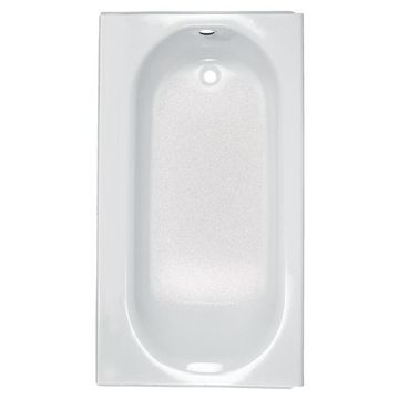 American Standard Princeton 34-in W x 60-in L White Porcelain Enameled Steel Oval In Rectangle Right-Hand Drain Alcove Bathtub
