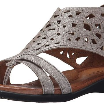 Cobb Hill Womens Jordan Leather Open Toe Casual Strappy