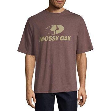 Mossy Oak Mens Crew Neck Short Sleeve Graphic T-Shirt