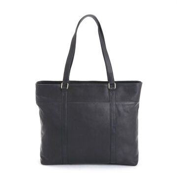 Royce Leather Tote with Laptop Compartment