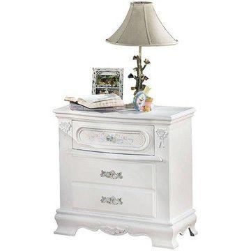 Acme Flora Nightstand, White