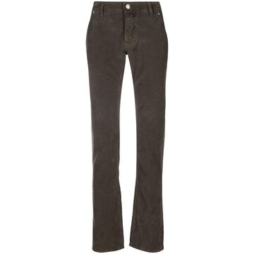 pocket-detai straight-leg jeans