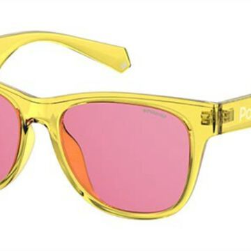 Polaroid PLD 6053/F/S Asian Fit 40G/0F Womenas Sunglasses Yellow Size 55
