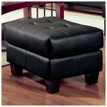 Samuel Black Ottoman by Coaster Furniture