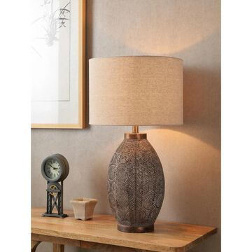 Bobbi Distressed Bronze 30 Inch Table Lamp