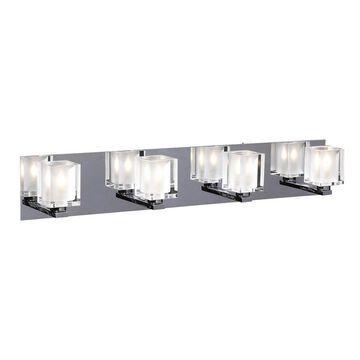 PLC Lighting 4-Light Chrome Modern/Contemporary Vanity Light Bar