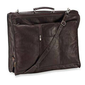 Piel Leather 23-Inch Leather Elite Garment Bag in Chocolate