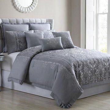 Pacific Coast Textiles 8 Piece Jacquard Comforter Set - Venice