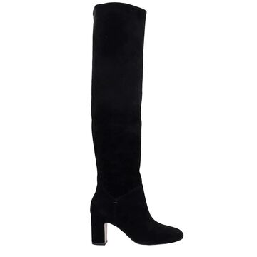 Bibi Lou High Heels Boots In Black Suede
