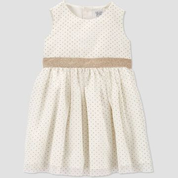 Toddler Girls' Tulle Sleeveless Dress - Just One You® made by carter's Ivory Gold