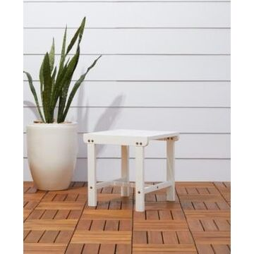 Vifah Bradley Outdoor Patio Wood Side Table
