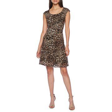 Ronni Nicole Sleeveless Animal Fit & Flare Dress