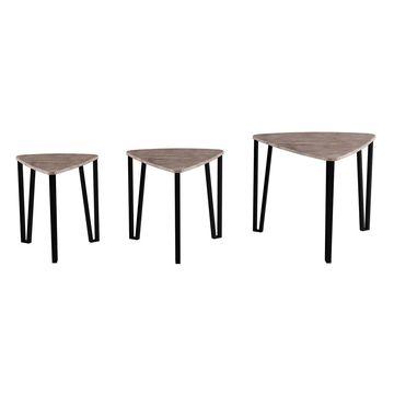 Lavish Home Contemporary Woodgrain Nesting Table Set