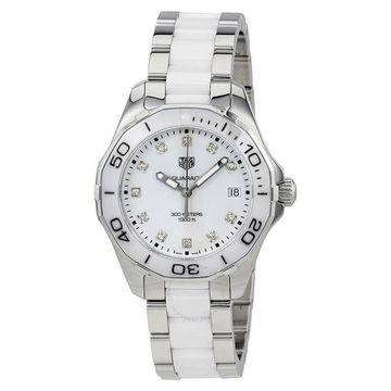 Tag Heuer Women's WAY131D.BA0914 'Aquaracer' Diamond Two-Tone Stainless steel and Ceamic Watch (Tag Heuer Women's WAY131D.BA0914)