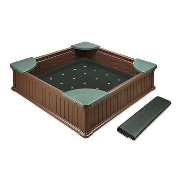 Badger Basket Woodland 2-in-1 Sandbox & Garden Planter