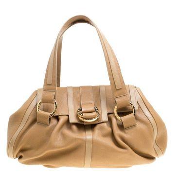Bvlgari Brown Leather Polly Satchel