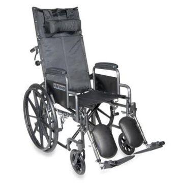 Drive Medical Silver Sport Full-Reclining 16-Inch Wheelchair