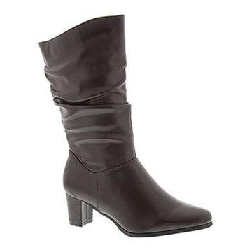 Wanderlust Women's Delaney Slouch Boot Brown Faux Leather