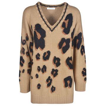 Vivetta V-neck Leopard Sweater