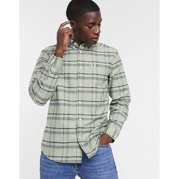 Fred Perry checked shirt in navy/green
