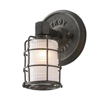 Troy Lighting Mercantile 1-Light Bronze Industrial Vanity Light | B3841