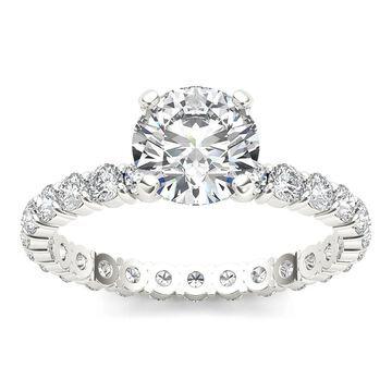 De Couer 14k White Gold 2 1/2ct TDW Diamond Engagement Ring